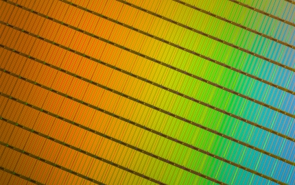 3D NAND Wafer Close-Up